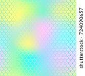 fantastic fish skin pattern... | Shutterstock .eps vector #724090657