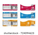 set travel concept airplane... | Shutterstock .eps vector #724094623