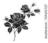 silhouette of rose isolated on... | Shutterstock .eps vector #724101727