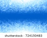 winter blue frost pattern on... | Shutterstock .eps vector #724150483