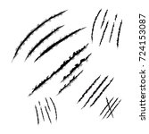 animal claws scratches  vector... | Shutterstock .eps vector #724153087