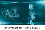 technology of ai artificial... | Shutterstock . vector #724156513