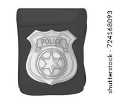 a badge  a police badge.... | Shutterstock .eps vector #724168093