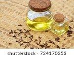 clove oil with clove   Shutterstock . vector #724170253