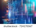 programming code abstract... | Shutterstock . vector #724170367
