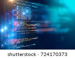 programming code abstract... | Shutterstock . vector #724170373