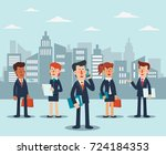 young businessmen and business... | Shutterstock .eps vector #724184353