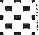 wagon  single icon in black...   Shutterstock .eps vector #724188277