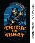 halloween design of grim reaper | Shutterstock .eps vector #724192933