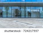entrance of modern office... | Shutterstock . vector #724217557