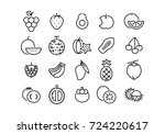 icon fruit  vector | Shutterstock .eps vector #724220617