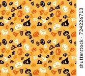 halloween seamless pattern.... | Shutterstock .eps vector #724226713