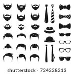 hipster portraits creation kit. ... | Shutterstock .eps vector #724228213