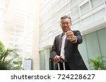 asian senior business male... | Shutterstock . vector #724228627