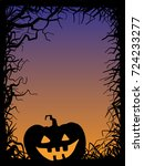 background  pumpkin  vector... | Shutterstock .eps vector #724233277