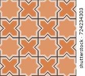 islamic arabic ceramic seamless ... | Shutterstock .eps vector #724234303