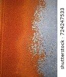 metal rust background  metal... | Shutterstock . vector #724247533