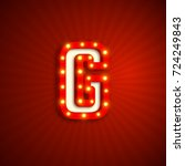 retro style letter g with... | Shutterstock .eps vector #724249843