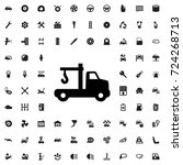 tow truck icon. set of filled... | Shutterstock .eps vector #724268713