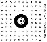 tire icon. set of filled car... | Shutterstock .eps vector #724270033