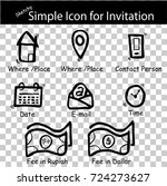 sketchy sign sign   place  time ... | Shutterstock .eps vector #724273627