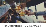 craft beer booze brew alcohol... | Shutterstock . vector #724279117