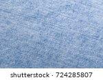 light jeans denim texture close ... | Shutterstock . vector #724285807