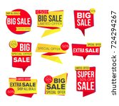 sale banner set. discount tag ... | Shutterstock . vector #724294267