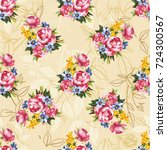 seamless floral pattern with... | Shutterstock .eps vector #724300567