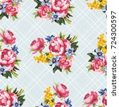 seamless floral pattern with... | Shutterstock .eps vector #724300597