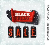 black friday sale  abstract... | Shutterstock . vector #724301923