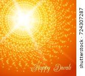 diwali festival greeting card.... | Shutterstock . vector #724307287