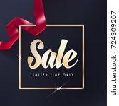sale or gift vector banner. red ...   Shutterstock .eps vector #724309207