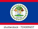 flag belize flat icon. state... | Shutterstock . vector #724309657