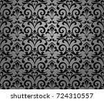 floral pattern. wallpaper... | Shutterstock .eps vector #724310557
