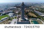 aerial bird view photo front of ...   Shutterstock . vector #724315753
