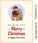 greetings card we wish you a... | Shutterstock .eps vector #724333117