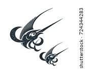marlin fish logo and emblem...   Shutterstock .eps vector #724344283