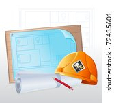 illustration of hard hat with... | Shutterstock .eps vector #72435601
