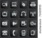 technology icon on square black ... | Shutterstock .eps vector #72435955
