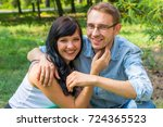 loving couple   husband and... | Shutterstock . vector #724365523