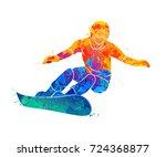 Snowboarder Jumping Sport