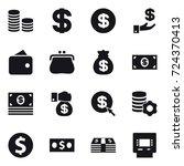 16 vector icon set   coin stack ... | Shutterstock .eps vector #724370413