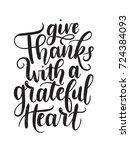 give thanks with a grateful... | Shutterstock .eps vector #724384093