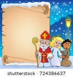 saint nicholas day thematic... | Shutterstock .eps vector #724386637