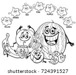 black and white cartoon... | Shutterstock . vector #724391527