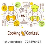 creative cooking contest... | Shutterstock .eps vector #724396417