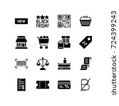 miscellaneous icon set of... | Shutterstock .eps vector #724399243