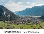 interlaken switzerland aerial...   Shutterstock . vector #724403617