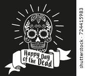 happy day of the dead. vector... | Shutterstock .eps vector #724415983